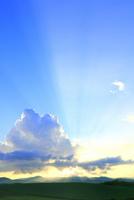 入道雲と光芒