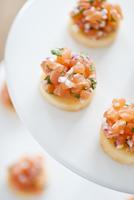 Studio shot of salmon dish