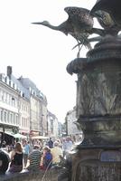 A fountain in a square