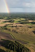 Rainbow above fields