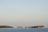 Bungalows on coast