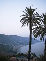 View of Mediterranean coastline