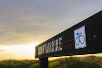 Mountain bikes trail signboard