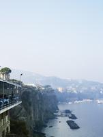 High angle view of Italian coast