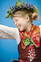 Happy girl in national costume