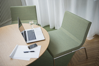 Table in conference room