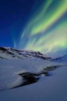 Aurora Over Skittendalstinden in Troms County, Norway.