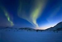 Aurora Borealis over Skittendalen Valley in Troms County, No