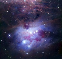 NGC 1977 is a reflection nebula northeast of the Orion Nebul