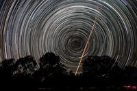 Southern Sky star trails and aircraft lights.
