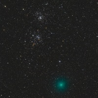 Comet Hartley 2 and the Double Cluster.