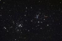 The Double Cluster in the constellation Perseus.