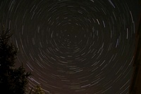 Star Trails around Polaris in the constellation Ursa Minor.