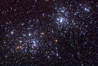 NGC 884, an open cluster, in the constellation of Perseus.