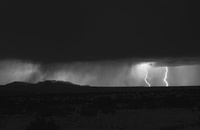 Lightning storm over northern New Mexico plains.
