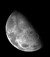 View of the Moon's north pole