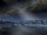 The night sky from a hypothetical alien planet.