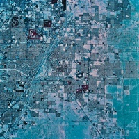 Satellite view of Las Vegas, Nevada.