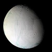 Saturn's moon Enceladus.