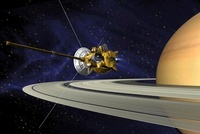 Artists concept of Cassini during the Saturn Orbit Insertion 11079014958| 写真素材・ストックフォト・画像・イラスト素材|アマナイメージズ