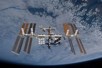 International Space Station set against the background of a