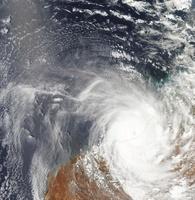 Tropical Cyclone Laurence over Western Australia. 11079015376| 写真素材・ストックフォト・画像・イラスト素材|アマナイメージズ