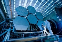 A James Webb Space Telescope array being tested in the X-ray