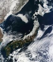 Satellite view of Japan.
