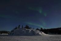 Aurora over Vee Lake, Yellowknife, Northwest Territories, Ca