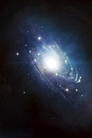 Artist's concept of a recently discovered galaxy.