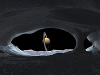Artist's concept of how Saturn might appear from within a hy