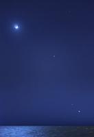 Conjunction of the moon, Jupiter, Mars and Venus.