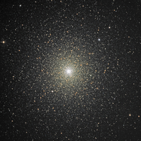 Globular cluster 47 Tucanae in the southern constellation of