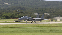 An F-15 takes off from Kadena Air Base, Okinawa, Japan.