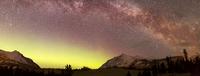 Aurora Borealis, Comet Panstarrs and Milky Way over Yukon, C