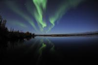 Aurora borealis over Long Lake, Northwest Territories, Canad