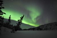 Aurora Borealis over Vee Lake, Northwest Territories, Canada