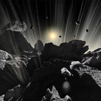Astronauts explore the tumultuous surface of a comet.
