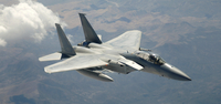 An F-15 Eagle in flight.