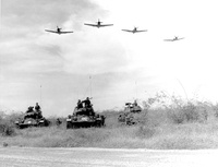 A-1H aircraft make a low level pass over Vietnamese tanks an 11079019461| 写真素材・ストックフォト・画像・イラスト素材|アマナイメージズ