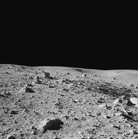 Lunar surface of Earths moon.