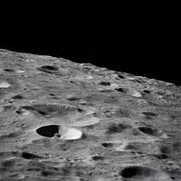 Leonove, a small lunar crater on the far side of the moon.