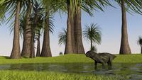 Lystrosaurus in shallow water. 11079022596| 写真素材・ストックフォト・画像・イラスト素材|アマナイメージズ