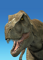 3D rendering of Tyrannosaurus Rex, close-up.