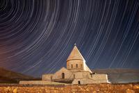 Star trails above Saint Thaddeus Monastery, Iran.