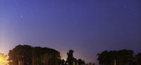 Wide panorama of Comet Panstarrs, Mercedes, Argentina.