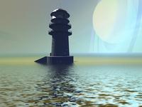 A lighthouse beacon on an alien planet. 11079023812  写真素材・ストックフォト・画像・イラスト素材 アマナイメージズ