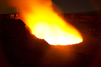 Halema'uma'u Crater of Kilauea Volcano, Big Island of Hawaii.