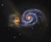 Whirlpool Galaxy 11079024172| 写真素材・ストックフォト・画像・イラスト素材|アマナイメージズ
