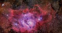 NGC 6523, the Lagoon Nebula.